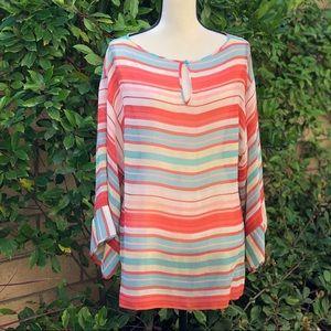 Silk Sheer multicolored blouse